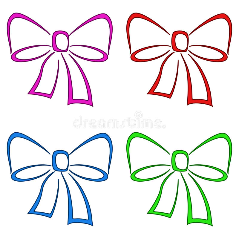 Download Bows, set, pictogram stock vector. Image of fasten, collection - 17292761