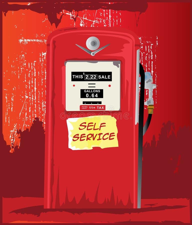 bowser παλαιά βενζίνη διανυσματική απεικόνιση