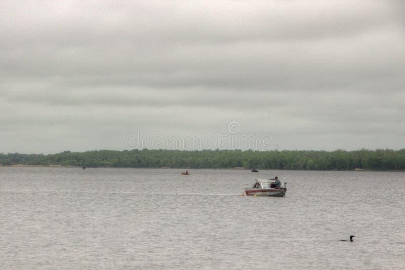 Bowstring jezioro jest częścią pijawka Jeziorny rodowity amerykanin Reserva obraz royalty free