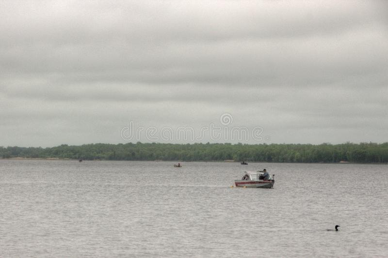 Bowstring Lake is Part of the Leech Lake Native American Reserva royalty free stock image