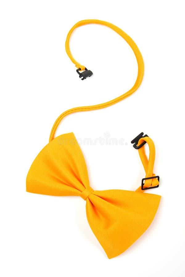 Bowtie giallo fotografie stock