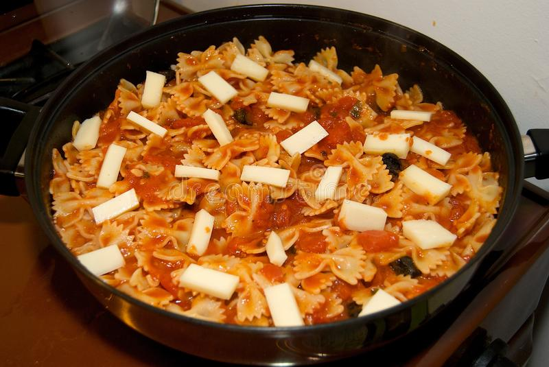 Download Bowtie Pasta Recipe stock photo. Image of cooking, cheese - 10246552