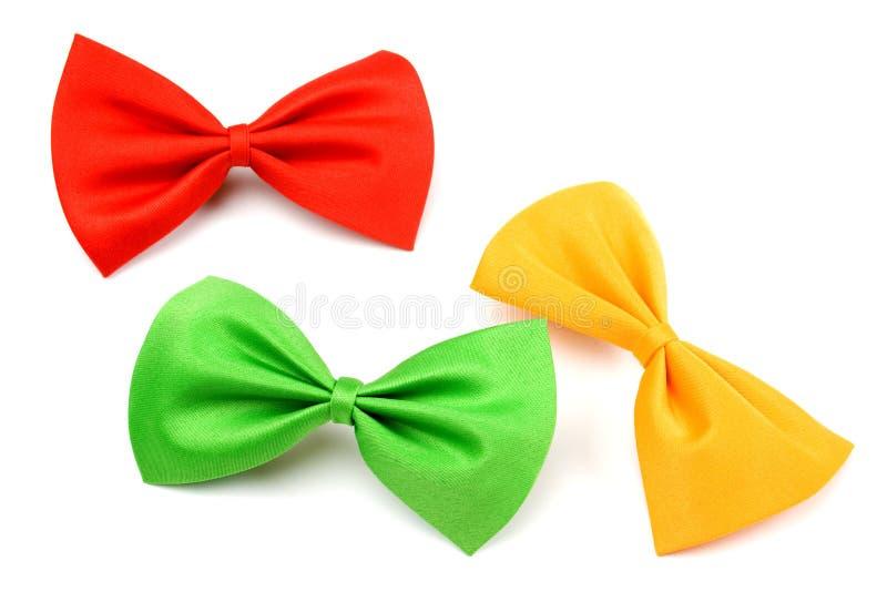Bowtie rosso, verde e giallo fotografia stock