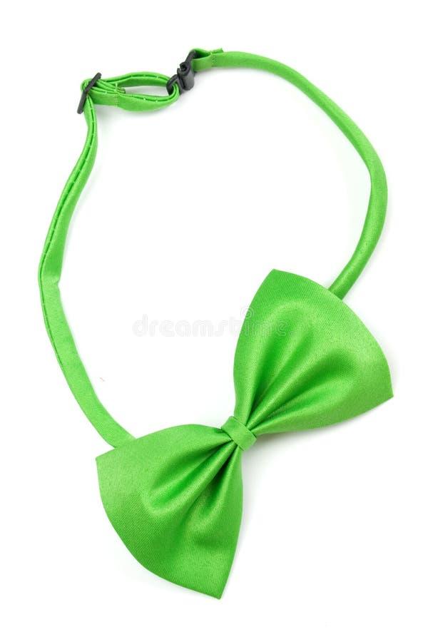 Bowtie verde isolato su bianco fotografia stock