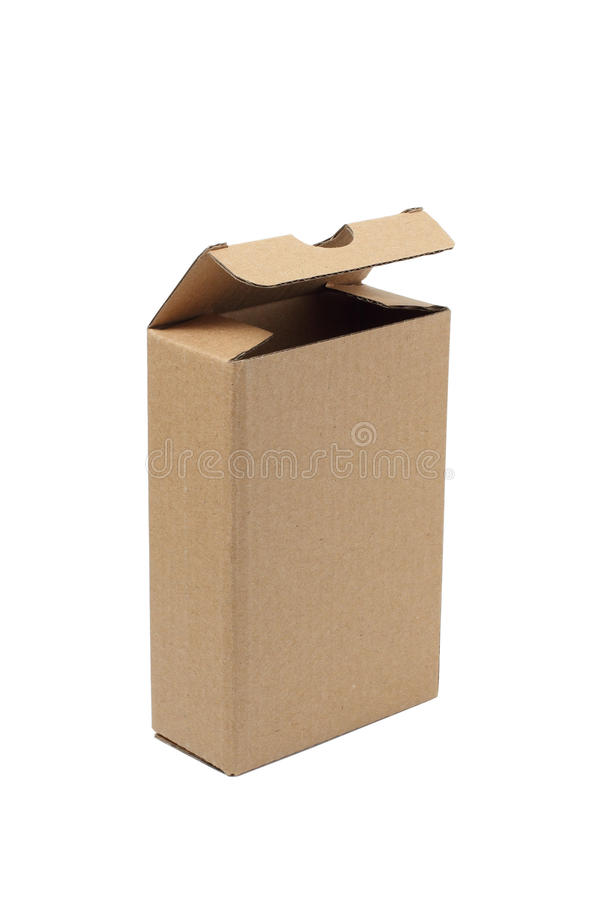 Box. Open cardboard box isolated on a white background royalty free stock photo