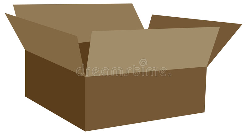 Download Box stock vector. Image of cargo, cardboard, pack, packing - 592232