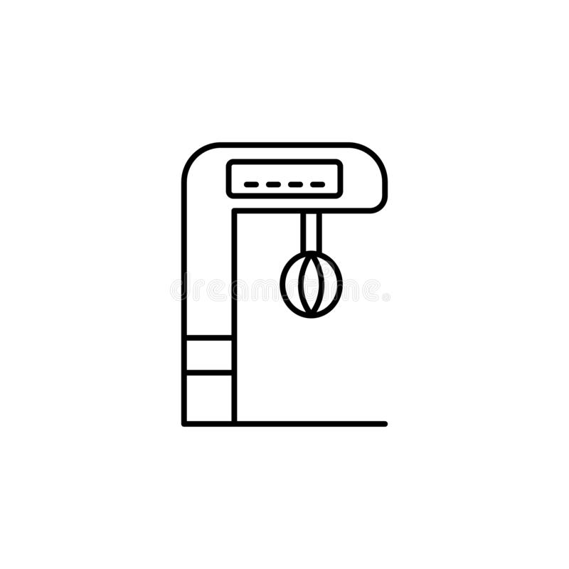 box, analytic, carousel icon. Simple thin line, outline  of Amusement icons for UI and UX, website vector illustration