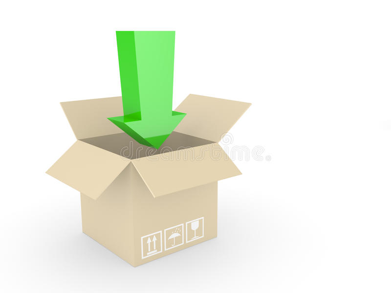 Download Box and arrow stock illustration. Illustration of cardboard - 11698111