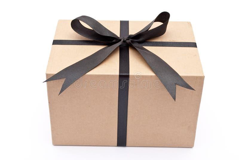 Box with black bow royalty free stock photo