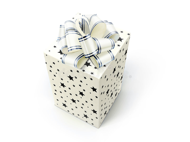 Download BOX with BOW stock illustration. Image of valentine, gift - 4372486
