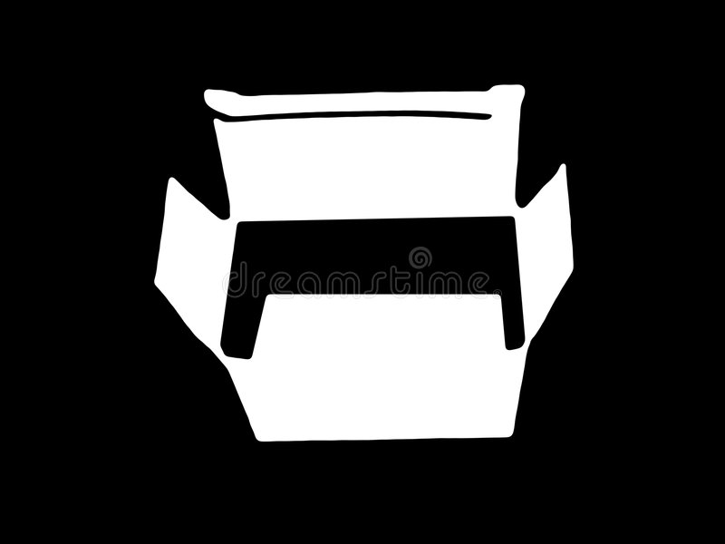 Download Box bw stock illustration. Image of illustrated, space - 402553
