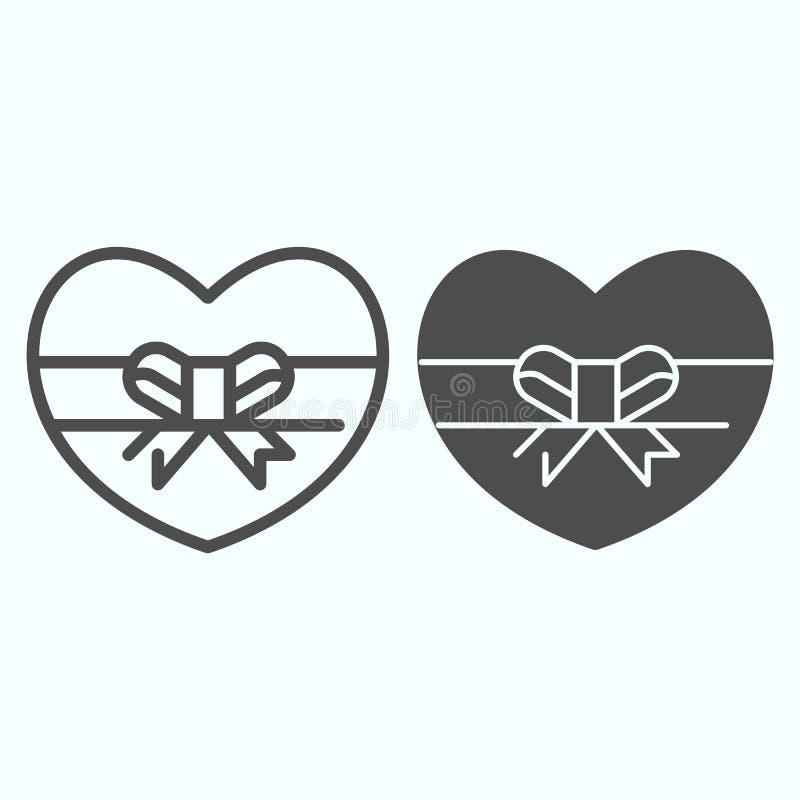 Valentine S Day Shape Heart Candy Box Stock Illustration