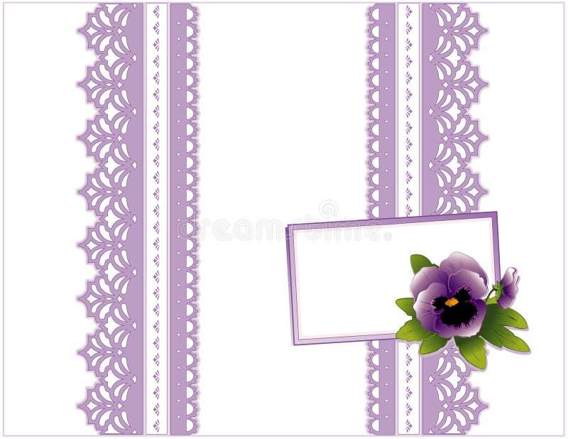 box card gift lace violet бесплатная иллюстрация