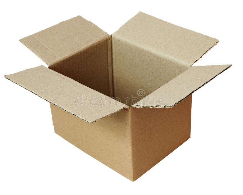 box cardbordpacken royaltyfri foto