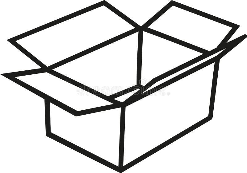 Box carton outline vector illustration