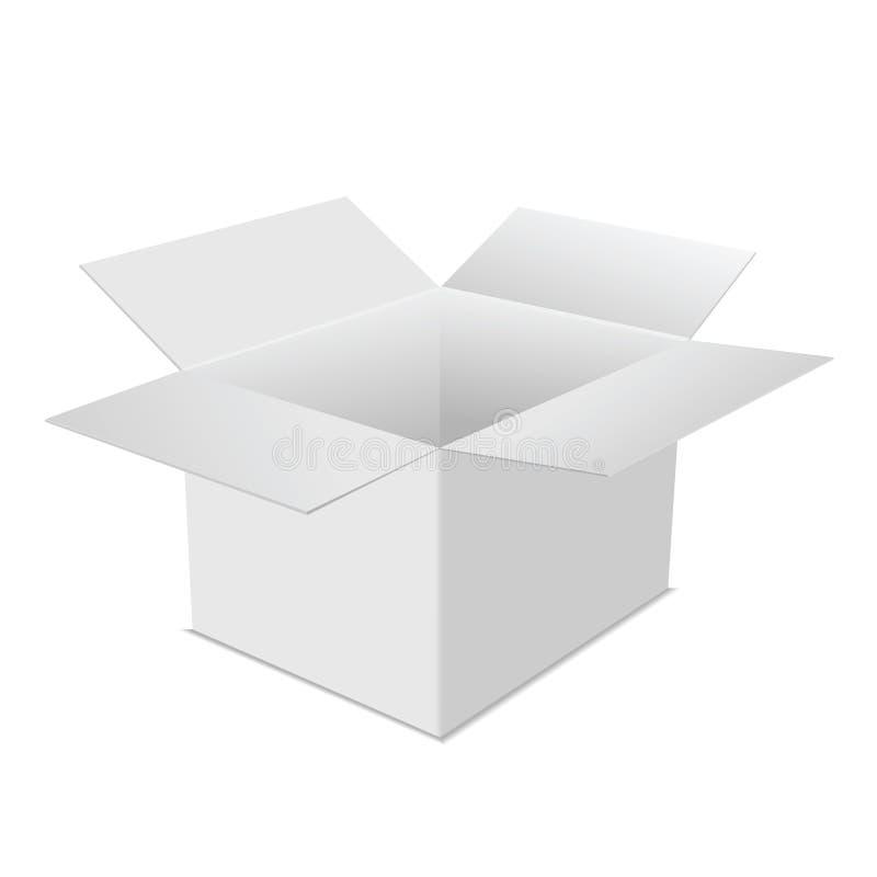 Box carton white vector illustration