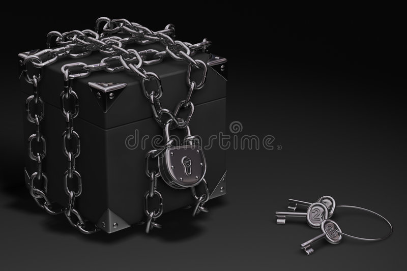 Download Box, Chain and Padlock stock illustration. Image of chrome - 2647214