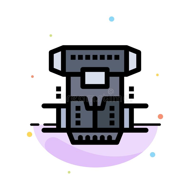 Box, Chamber, Cryogenic, Cryonics, Cryotherapy Abstract Flat Color Icon Template royalty free illustration