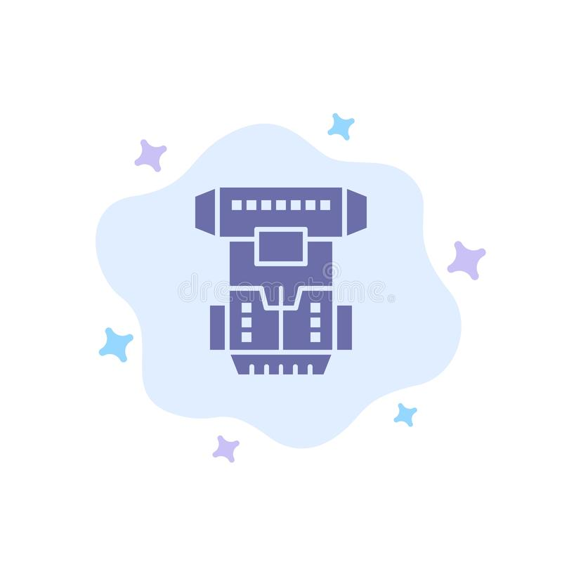 Box, Chamber, Cryogenic, Cryonics, Cryotherapy Blue Icon on Abstract Cloud Background royalty free illustration