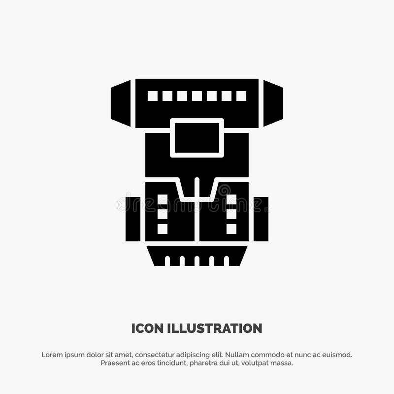 Box, Chamber, Cryogenic, Cryonics, Cryotherapy solid Glyph Icon vector stock illustration