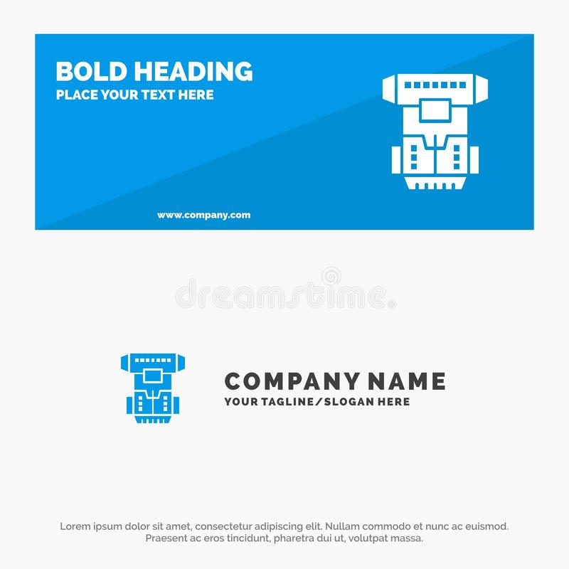 Box, Chamber, Cryogenic, Cryonics, Cryotherapy SOlid Icon Website Banner and Business Logo Template vector illustration