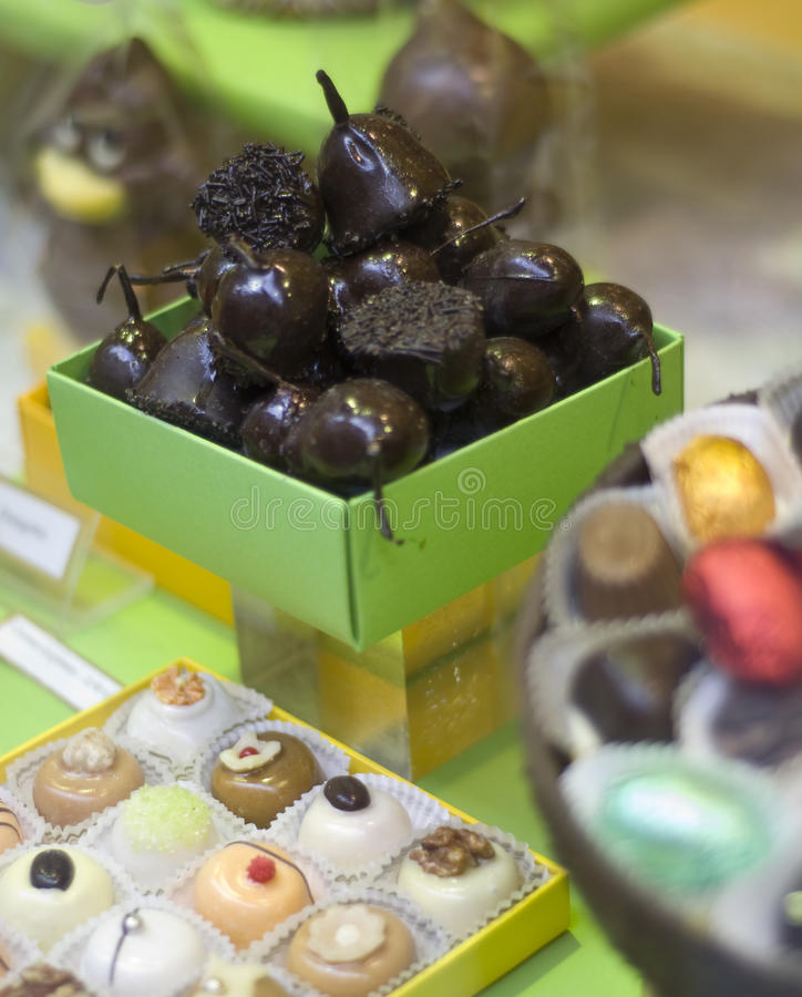 Download A box of chocolate fruit. stock image. Image of fruit - 13392389