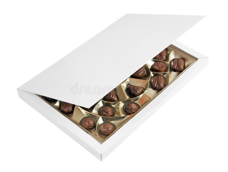 Box with chocolates royalty free stock images