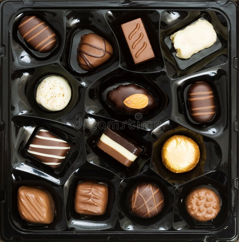 Download Box of chocolates stock photo. Image of assortment, confectionary - 3916370
