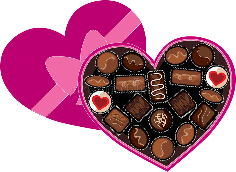 Box of Chocolates stock illustration