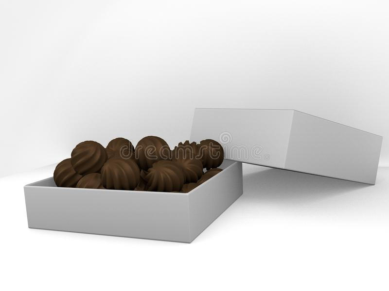A box of chocolates stock images