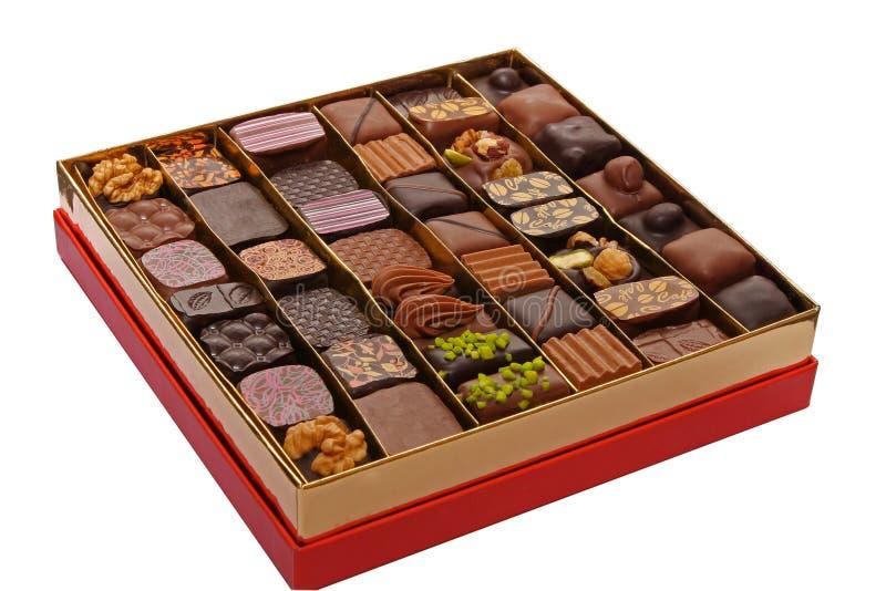 Box of chocolates royalty free stock images
