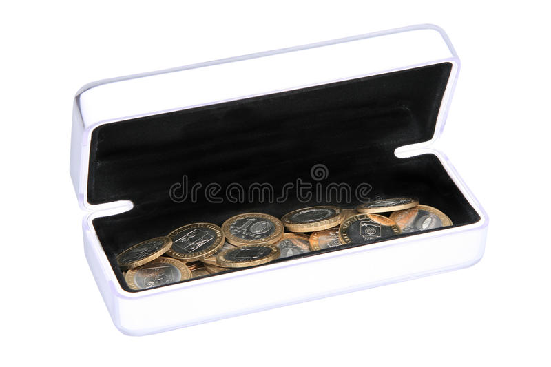 Download Box with coins stock photo. Image of bank, sides, ruble - 21396840