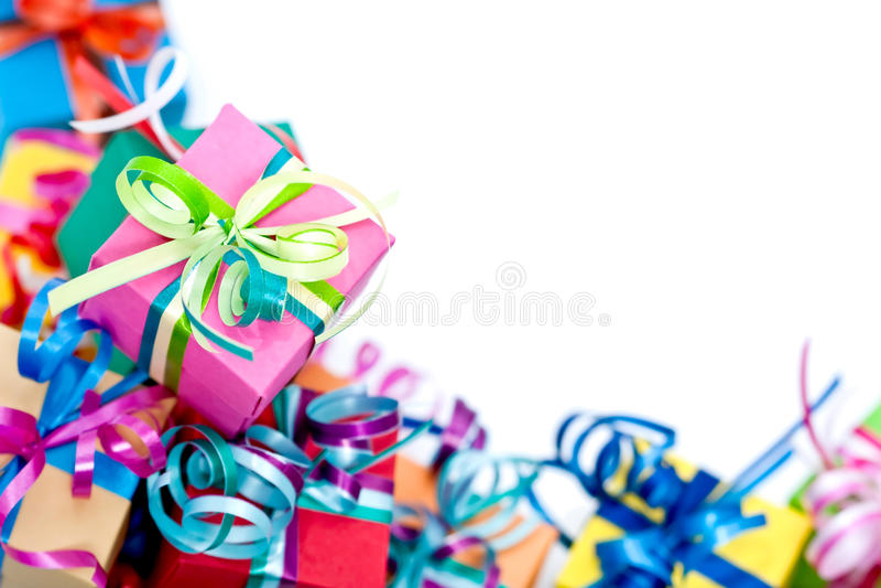 box colorful gifts 库存图片