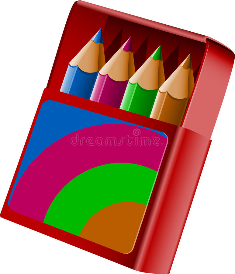 Download Box of crayons stock vector. Image of crayon, graphic - 26766197