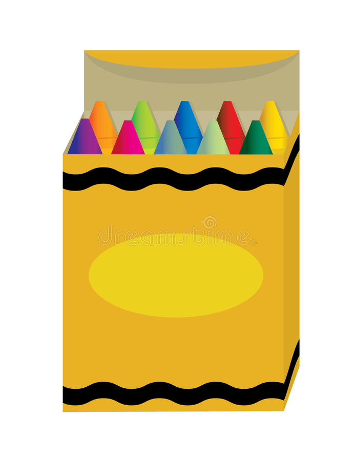 Download Box of crayons stock vector. Image of plaything, drawing - 9698017