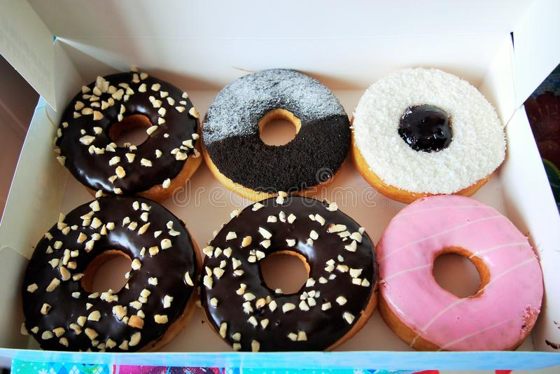 Box of Doughnuts stock photo