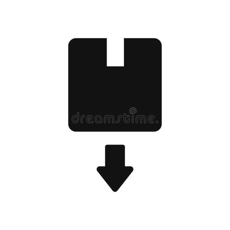 Box with down arrow vector icon vector illustration