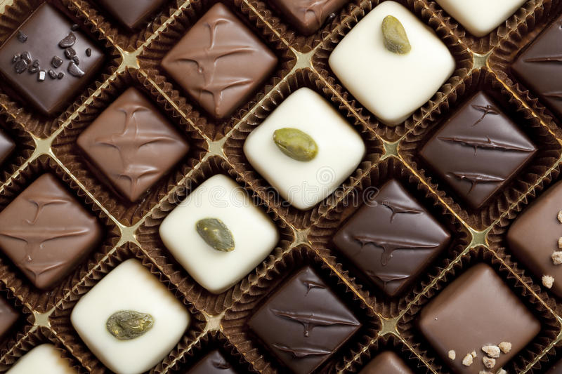 Box Of The Finest Chocolate Royalty Free Stock Photo