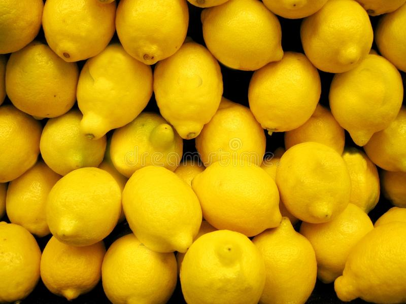 Download Box of fresh lemons stock photo. Image of kitchen, exotic - 15739520