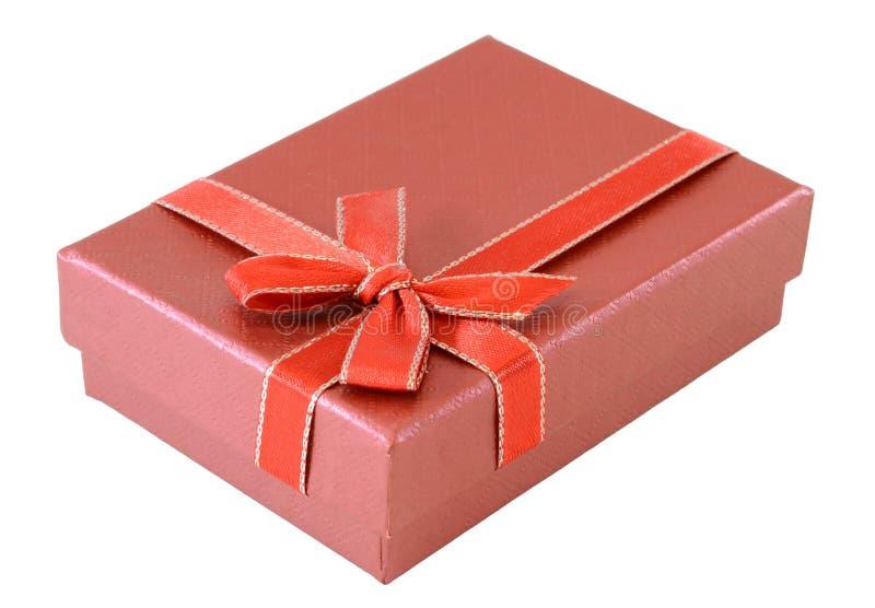 box gåvared royaltyfri bild