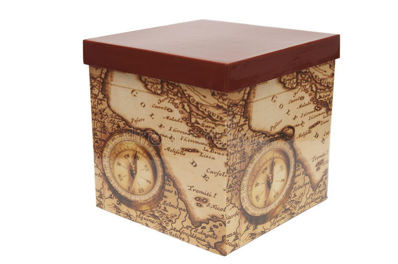 Box for gift stock photo