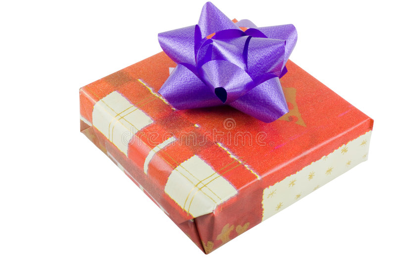 box gift wrapped arkivbild