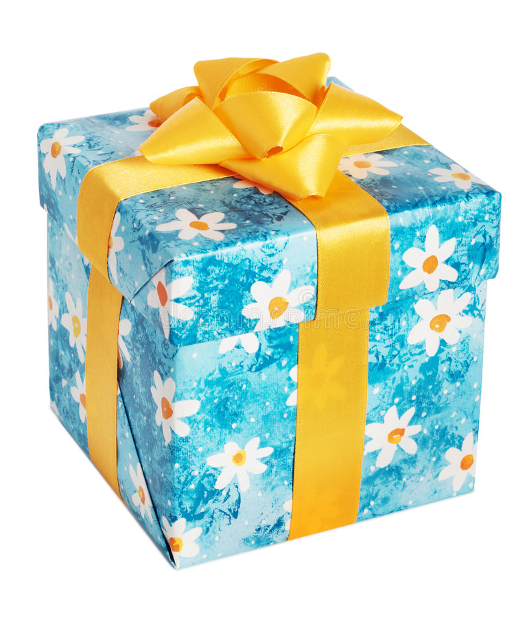 Box for gifts. Isometric. royalty free stock image