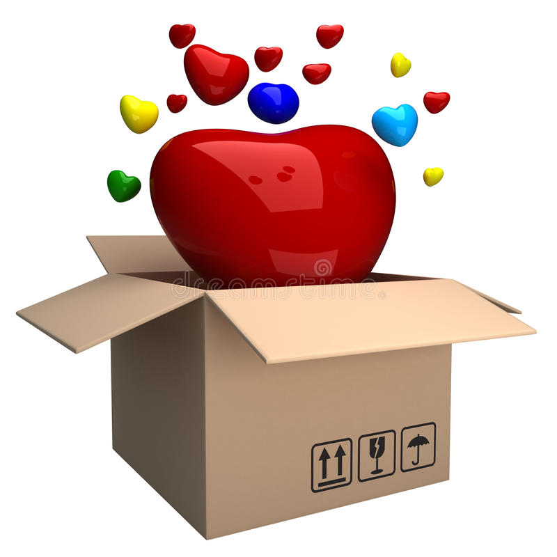 Download Box of heart stock illustration. Illustration of graphic - 22894576