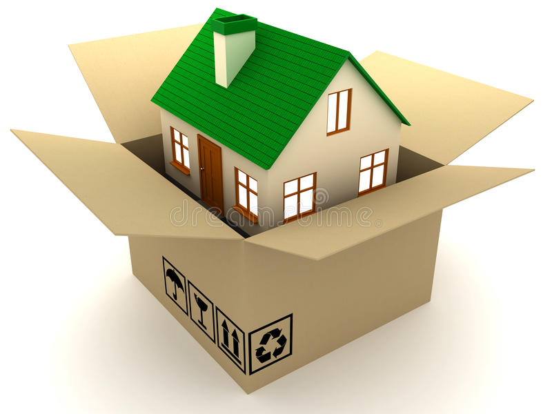 Download Box and home stock illustration. Illustration of house - 18004814