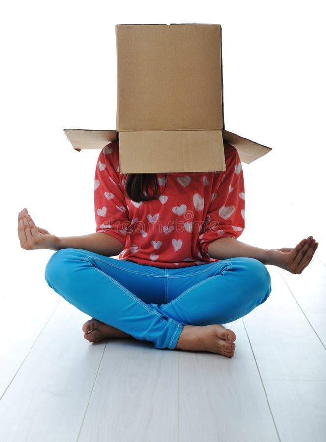 Download Box on human head stock image. Image of card, pajamas - 24517463