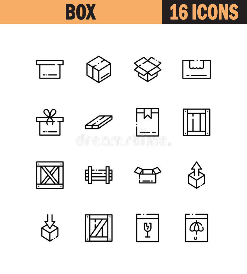 Box icon set vector illustration