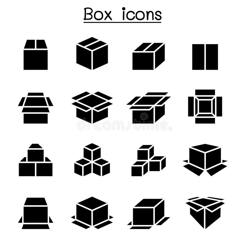 Box icon set vector illustration