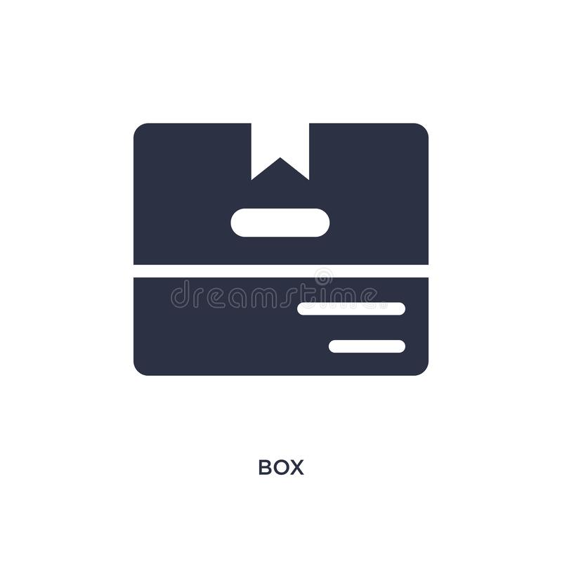 Logo Mockup White Paper In Shadow: Box Icon On White Background. Simple Element Illustration