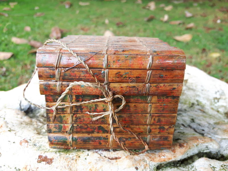 box isolated wooden 免版税图库摄影